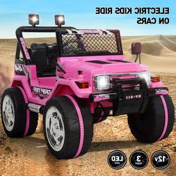 Electric 12V Battery Kids Ride On Car Toy Jeep USB Bluetooth