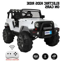 Electric 12V Kids Ride On Car Toys Jeep 4 Wheel Music Light