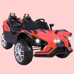 Electric 12V Kids Ride on Car 2 Seater Battery Racing RC Lig