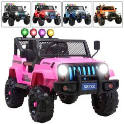 Electric 12V Kids Ride on Toys Car Remote Control Wheel Susp