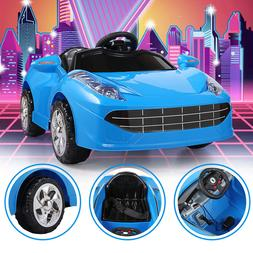 Electric Kids Ride On Car 6V Battery Power Gift Toy LED MP3