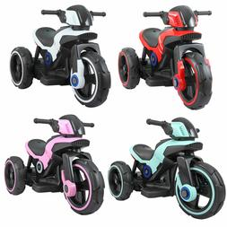 Electric Motorcycle 6V Kids Ride On Toy , w/ Training Wheels