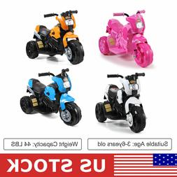 Electric Motorcycle Kids Ride On Toy Bicycle 6V Battery Powe