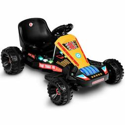 Electric Powered Go Kart Kids Ride On Car 4 Wheel Racer Bugg