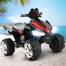 Electric Ride On Car 12V ATV Quad Kids Toy LED Lights Music