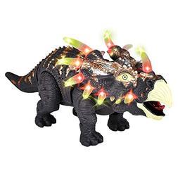 electric walking triceratops