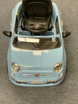 Best Ride On Cars Fiat 500 Push Car, Blue