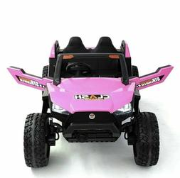 Fully Loaded With Kids  Electric Rzr SX1928pink Ride On Car