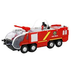 alignmentpai Funny Electric Fire Fighting Truck Toy Light So