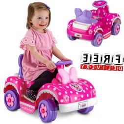 Girls Battery Powered Ride On Toys 6V Electric 4 Wheel Quad