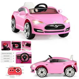 Girls Ride On Car With Remote Control 6V Pink Electric Toys