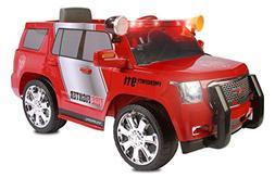 Rollplay GMC Yukon Denali Fire Rescue 6 Volt Battery Powered