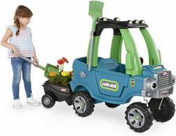 Little Tikes Go Green! Cozy Truck w/ Trailer Ride-On & Garde