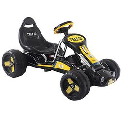 Costzon Go Kart, 4 Wheel Ride on Car, Pedal Powered Ride On