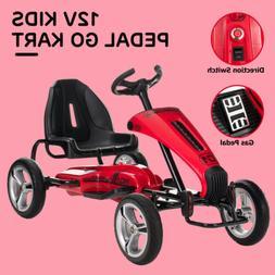 12V Go Kart  Ride On Toy Outdoor Racer Car W/ EVA Tires Swit