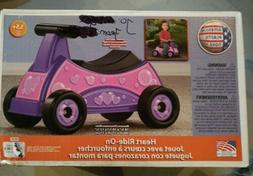 American Plastic Toys Heart Ride On Toy Pink Purple Girl Ind
