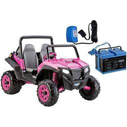 Peg Perego IGOD0073K - Polaris RZR 900 - Pink With 12 Volt B