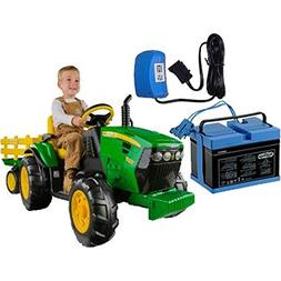 Peg Perego IGOR0039K John Deere Ground Force Tractor w trail