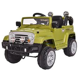 K Top Deal 12V Jeep Style Kids Ride On Toy Car w/ Remote Con