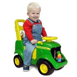 John Deer Foot To Floor Light And Sound Tractor,Includes Fou