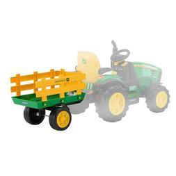 Peg Perego John Deere Tractor Trailer Kids Ride On Toy Acces