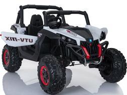 Mini Moto UTV 4x4 12v White  Two Seater Electric - Ride On,
