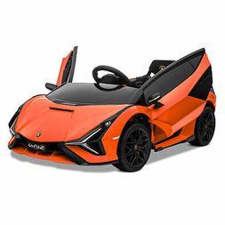 Kidzone Kids 12V Electric Ride On Licensed Lamborghini Roads