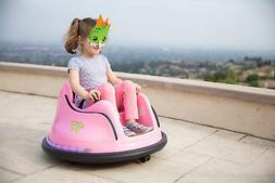 Kids ASTM-Certified Electric 6V Ride Bumper Car W/ Remote Co