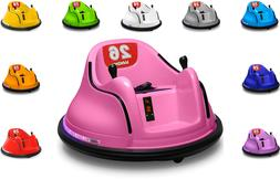 Kids Ride On Electric Bumper Car Toy Toddler 360 Spin Remote