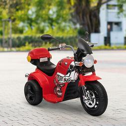 Kids Motorcycle Ride On 6V Battery Powered Electric Trike To