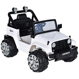 Costzon Ride On Jeep Truck, 12V Battery Powered Ride On Vehi