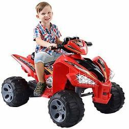 Giantex Kids Ride On ATV Quad 4 Wheeler Electric Toy Car 12V