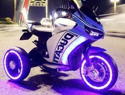 kids Ride On Bike Car Rzr Duccati Ninja Sport 3 Wheels Mp3 1