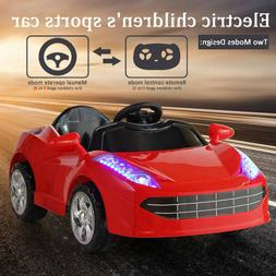 Kids Ride On Car Electric 6V Battery Power Gift Toy LED MP3