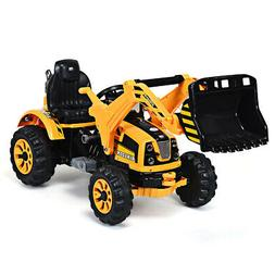 Kids Ride On Excavator Truck 12V Battery Powered With Front