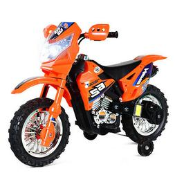 Kids Ride On Motorcycle 6V Battery Powered with Training Whe