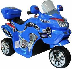 Kids Ride On Motorcycle Bike 3 Wheeler Sounds Lights 6V Batt