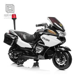 Kids Ride On Police Motorcycle 12V Battery 3 Wheels with Sir