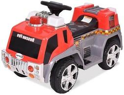 Kids Ride On Rescue Fire Truck 6 Volt for Toddler Boys Toys