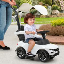 Kids Ride On Toy Push Car Foot To Floor Baby Stroller w/Cano
