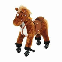 Kids Ride on Toy Rocking Horse Walking Pony Neigh Sound Chil