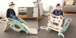 Kids Slide 4 In 1 Horse Baby Toys Children Ride Toy Multifun