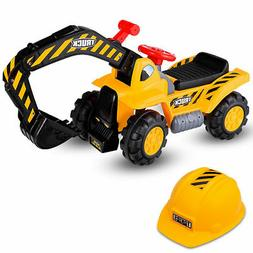 Kids Toddler Ride On Excavator Digger Truck Scooter Seat Sto