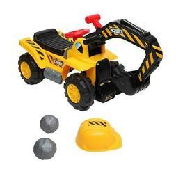 Kids Toddler Ride On Excavator Digger Truck 4 Wheel w/ Sound
