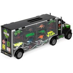 Kids Toys- Giant Transport Carrier Truck w/ Dinosaurs, Helic