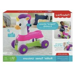 Kids Unicorn Ride On Riding Toy Baby Toddler Sounds Music Gi
