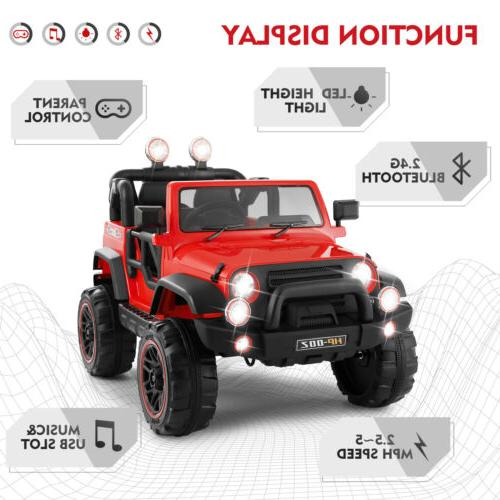 12V Ride Toys LED W/Remote Control Red