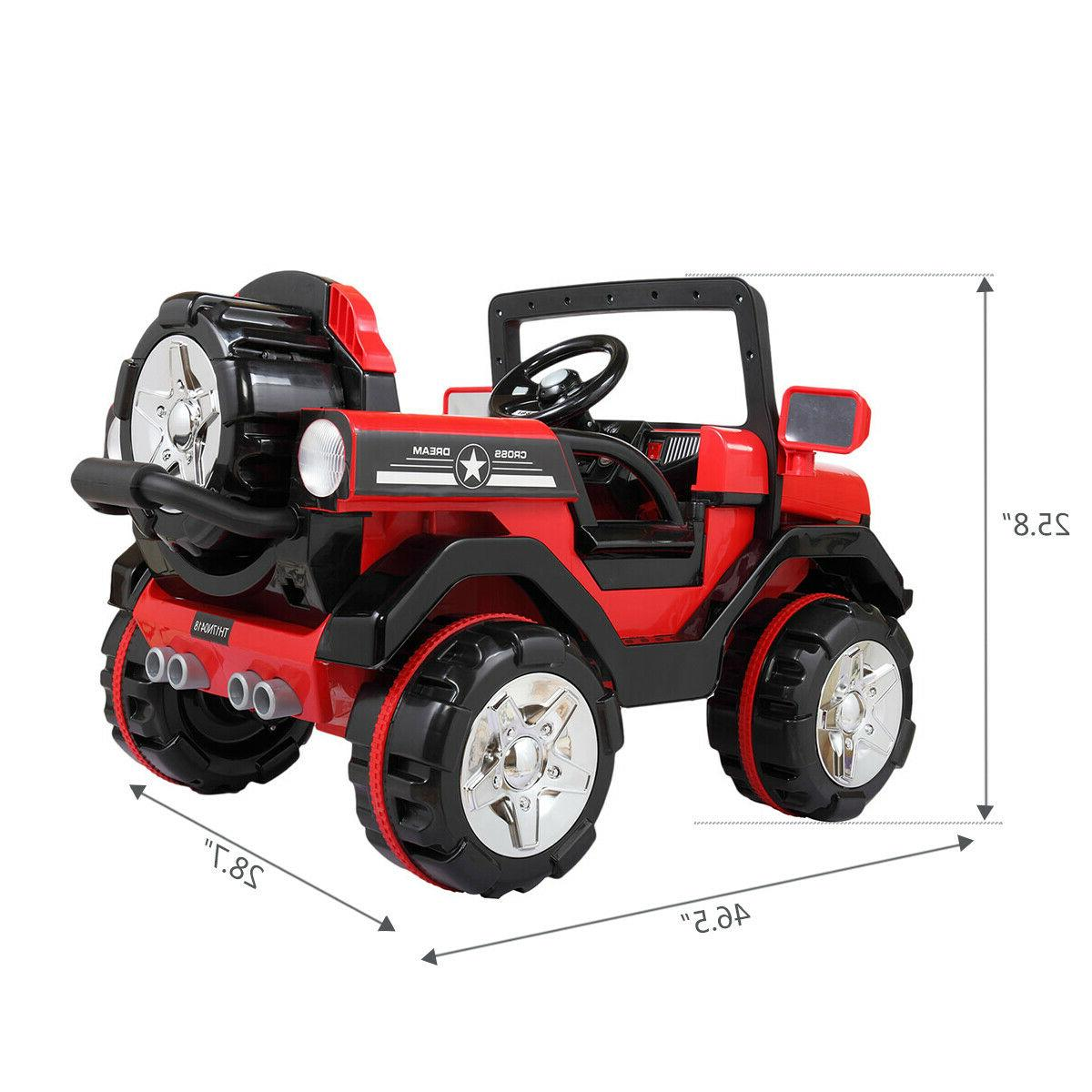 12V Ride On Truck Style w/LED, MP3