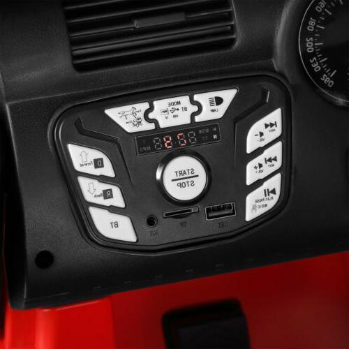 12V Jeep Kids Ride Car Toy Return Spring Suspension RedRC
