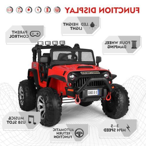 12V Electric Ride Truck Car Suspension RedRC